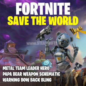 خرید-بازی-سیو-د-ورلد-save-the-world-فورتنایتMETAL-TEAM-LEADER-PACK